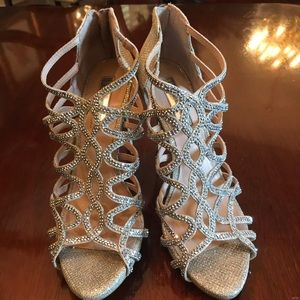 Gorgeous and classy Silver Rhinestone I.N.C. Shoes